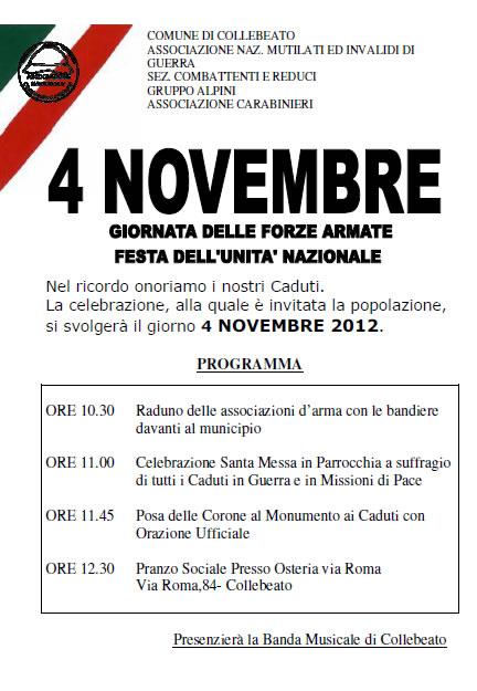 4 novembre a Collebeato