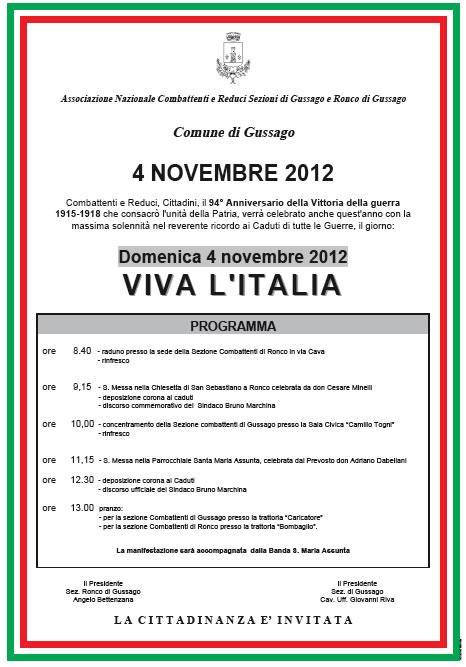 4 novembre a Gussago