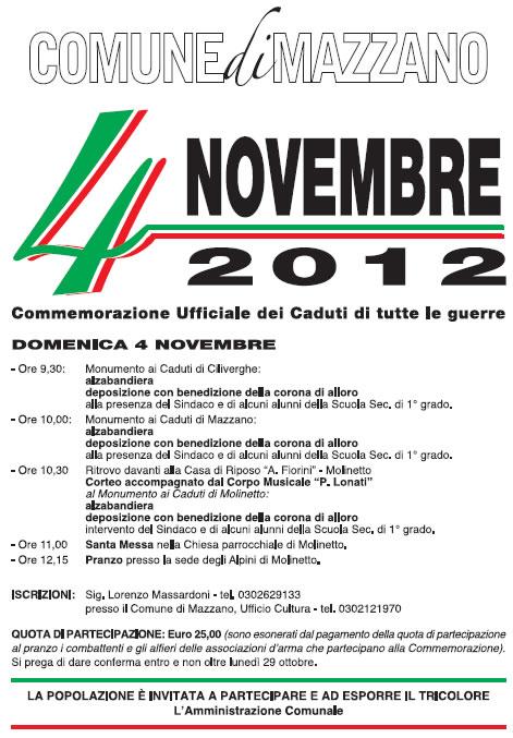 4 novembre a Mazzano