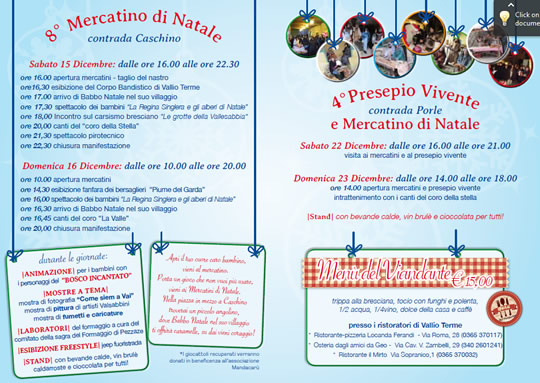 Mercatino di Natale e Presepio Vivente a Vallio Terme