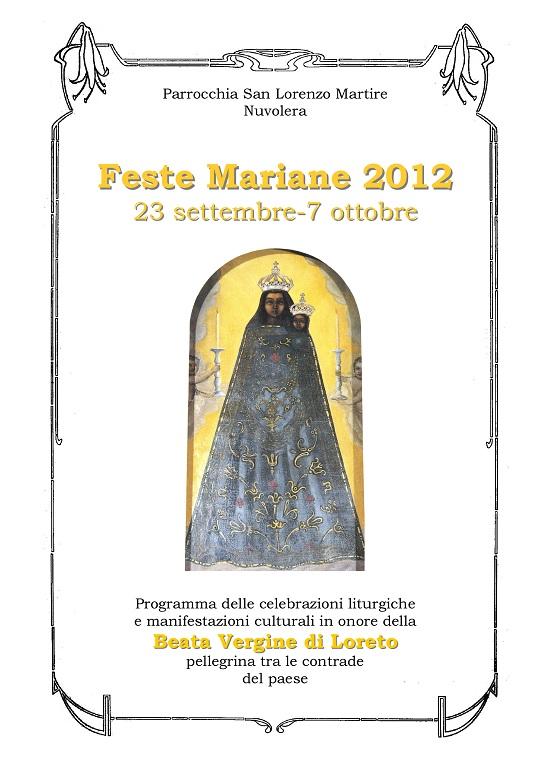 Programma feste mariane 2012 Nuvolera