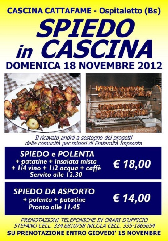 Spiedo in Cascina Cattafame Ospitaletto 18-11-2012