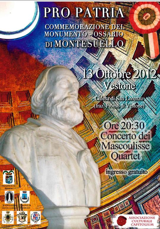 concerto dei Mascoulisse Quartet a Vestone