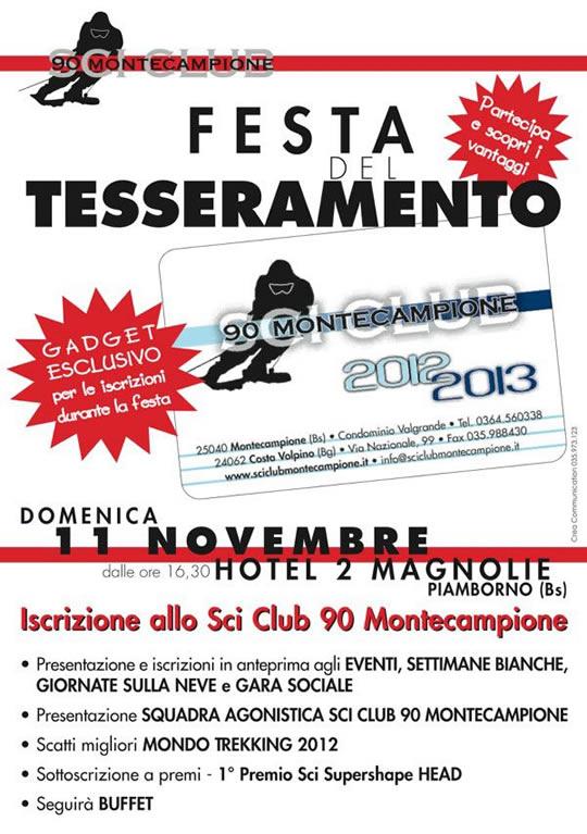 festa del tesseramento a Monte Campione