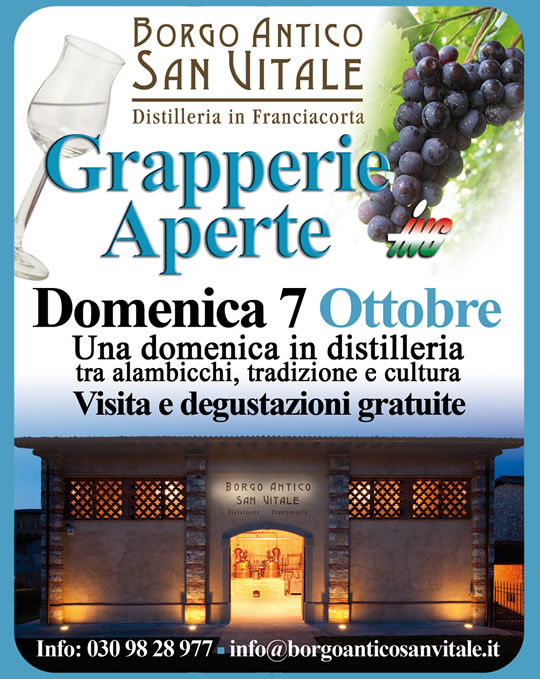grapperie aperta in Franciacorta