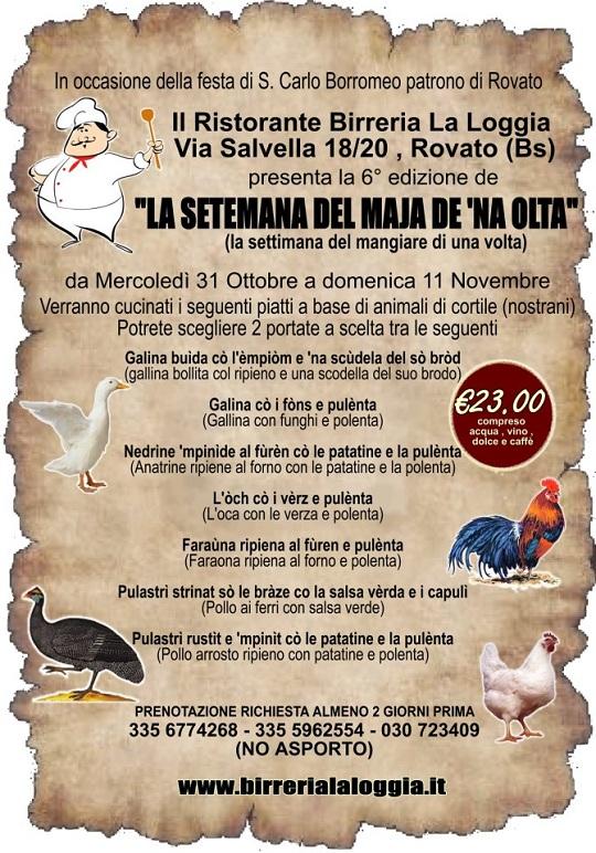 la setimana del maja de na olta-Birreria la Loggia Rovato