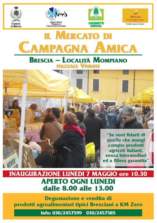 mercato agricolo a Mompiano Brescia