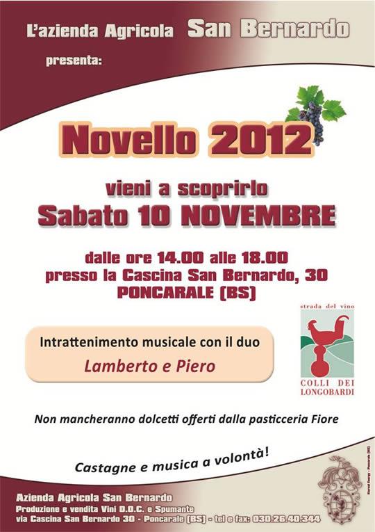 presentazione novello 2012 agricola San Bernardo