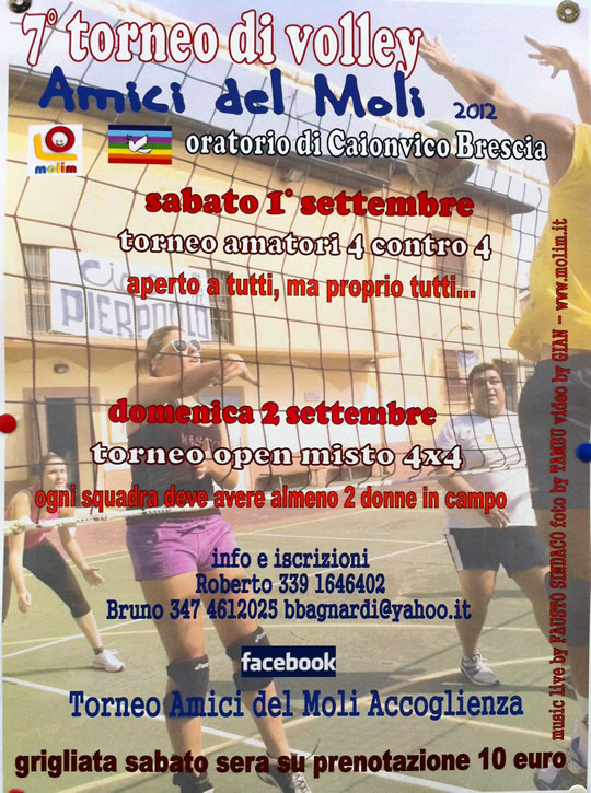 torneo di volley a Caionvico