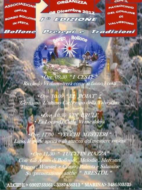 Bollone Presepi e Tradizione a Bollone di Valvestino