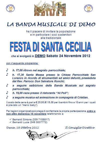 Festa di Santa Cecilia a Demo