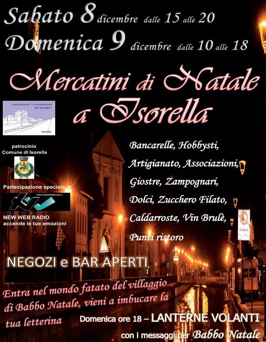 Mercatini 8-9 dicembre Isorella