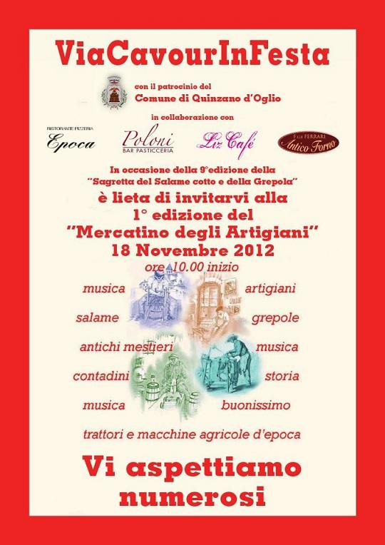 Via Cavour in Festa Quinzano d'oglio 18-NOV-2012