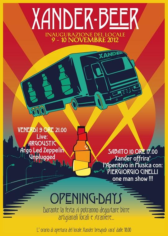 XANDER BEER volantino-apertura 9 e 10 NOVEMBRE 2012