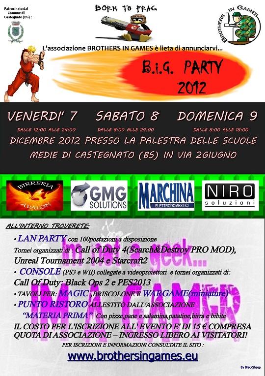 big party 7-8-9 Dicembre 2012 Castegnato
