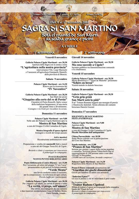 sagra di San Martino a Cigole Novembre 2002
