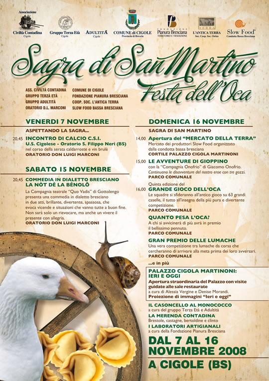 sagra di san Martino e festa oca a Cigole 2008