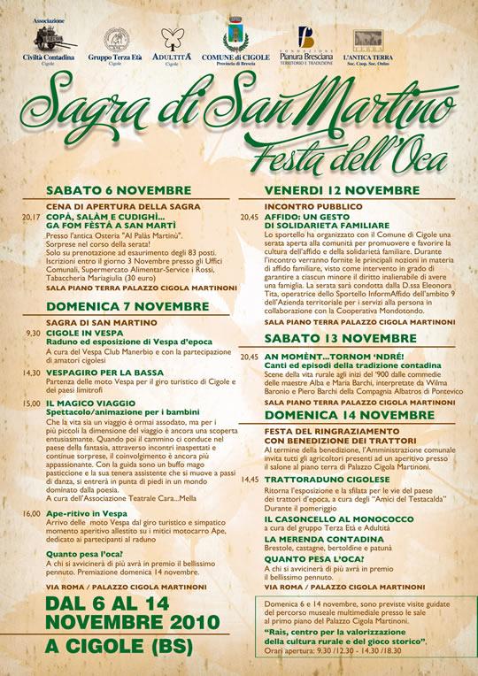 sagra di san Martino e festa oca a Cigole 2010