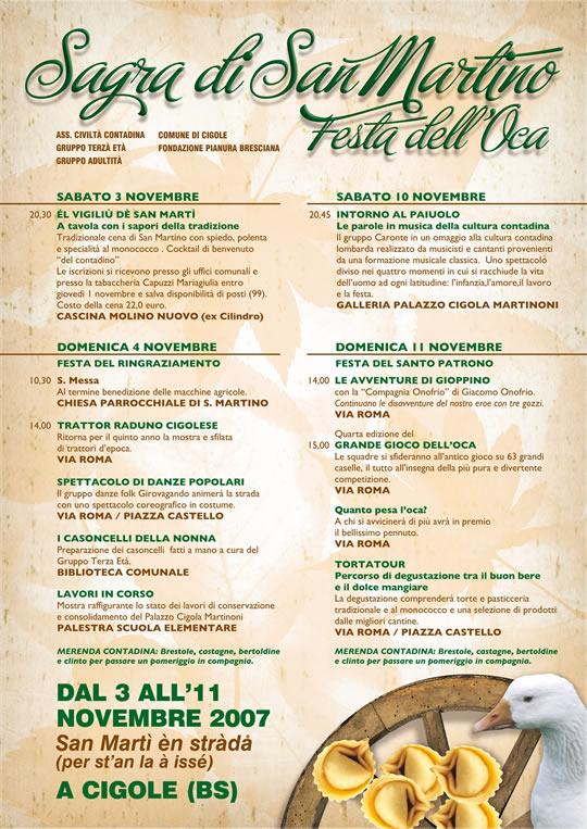 sagra di san martino a Cigole novembre 2007