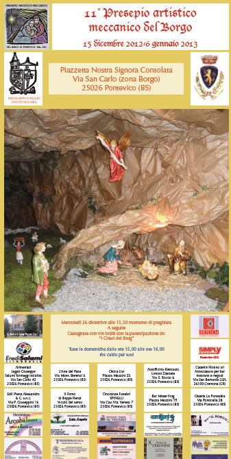 11 Presepio Artistico Meccanico del Borgo a Pontevico