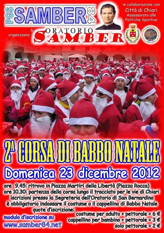 2° corsa di Babbo Natale oratorio Samber Chiari