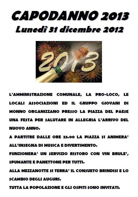 Capodanno 2013 a Monno