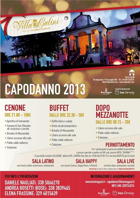 Capodanno 2013 a Villa Calini Coccaglio