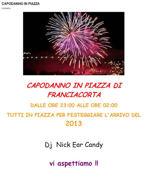 Capodanno in Piazza a Corte Franca