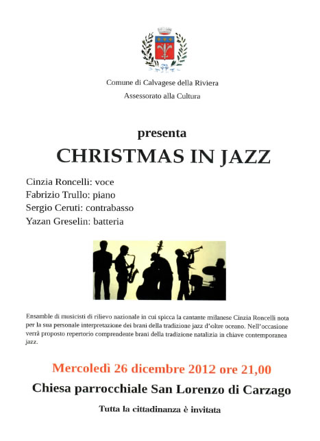 Christmas in Jazz a Calvagese della Riviera