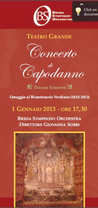 Concerto di Capodanno a Brescia