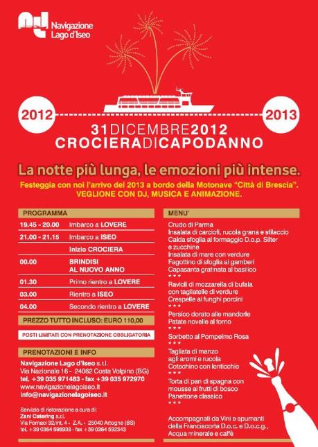 Crociera di Capodanno Lago d'Iseo