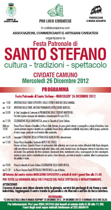 Festa Patronale di Santo Stefano a Cividate Camuno