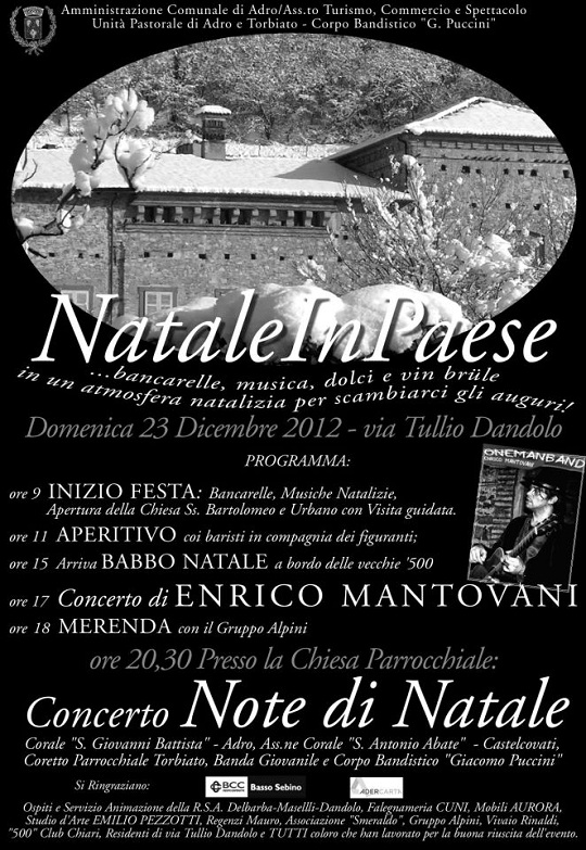 Natale in paese 2012 ad Adro