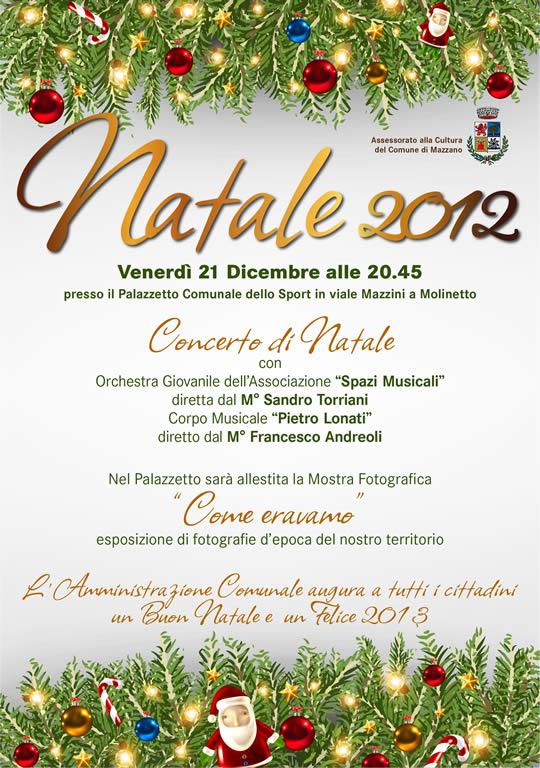 concerto di natale a Mazzano 2012