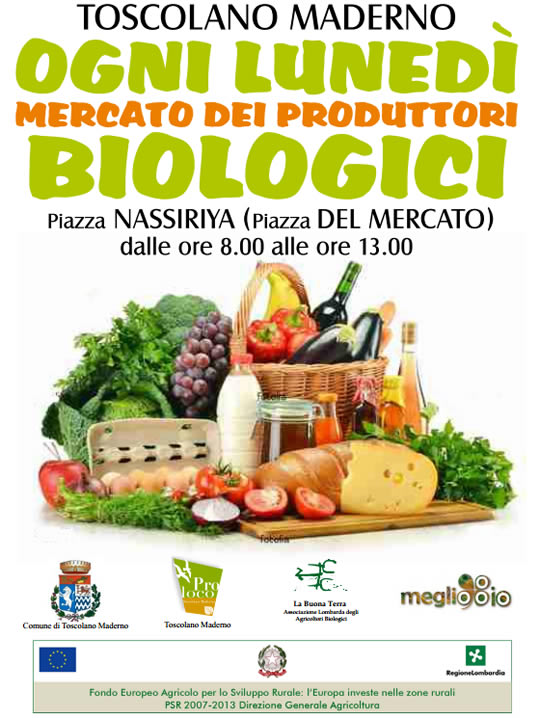 mercato bio a Toscolano Maderno