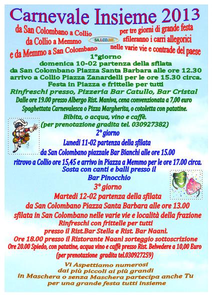 Carnevale Insieme 2013 a Collio