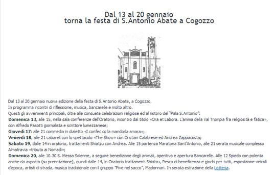 Festa di S.Antonio Abate a Cogozzo
