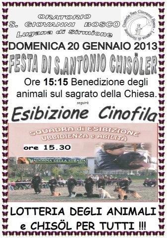 Festa di S.Antonio Chisoler  2013