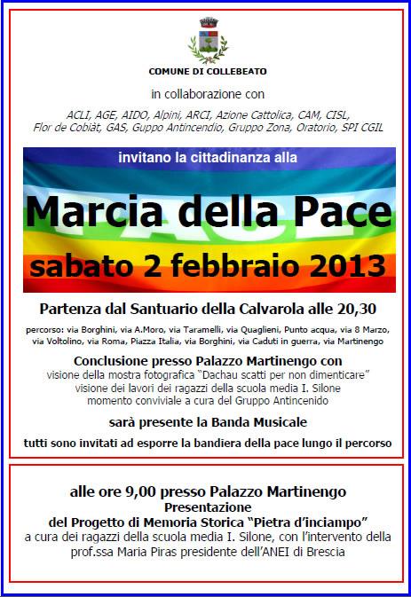 Marcia della Pace a Collebeato
