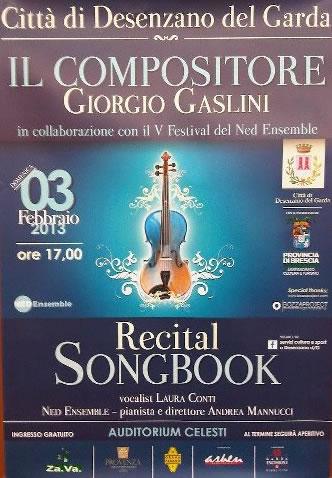 Recital Songbook a Desenzano