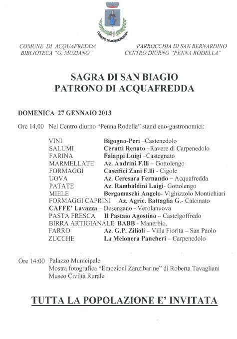Sagra di San Biagio ad Acquafredda