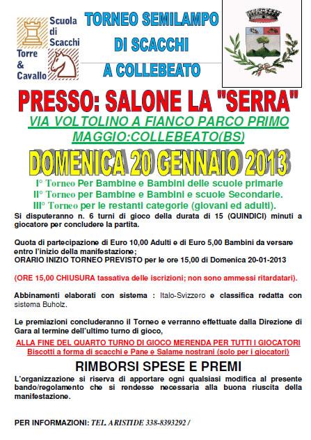 Torneo Semilampo di Scacchi a Collebeato