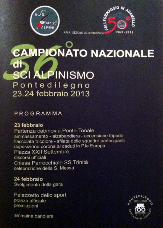 campionato italiano di sci alpinismo a Ponte di Legno