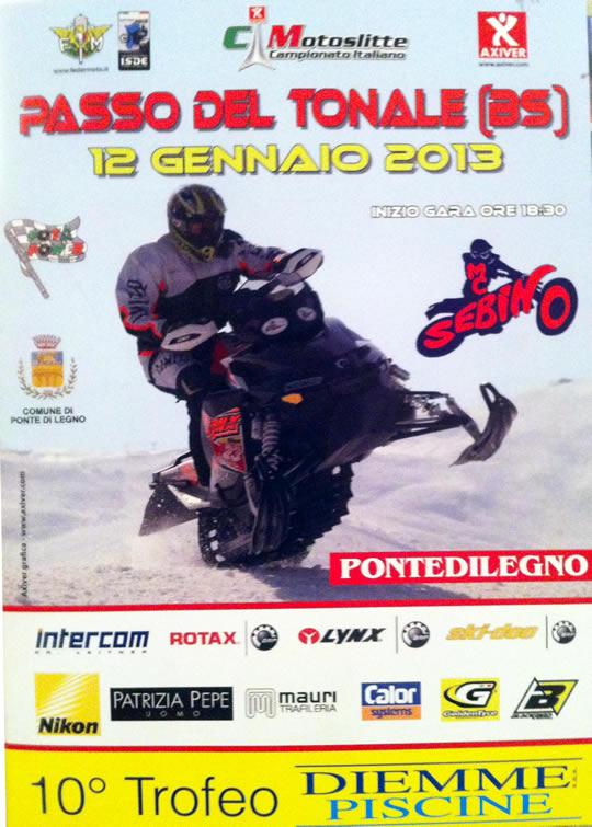 campionato italiano motoslitte a Ponte di Legno