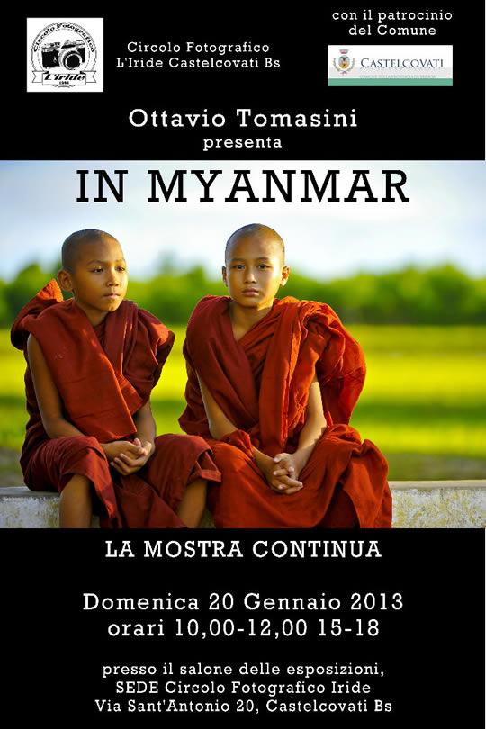 mostra fotografica Myanmar