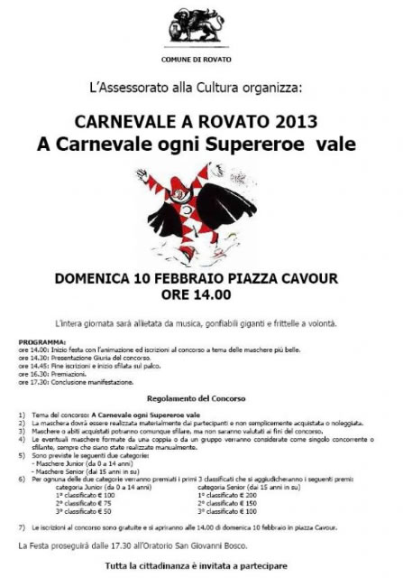 Carnevale a Rovato