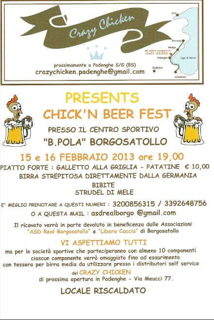 Chick'n Beer Fest a Borgosatollo