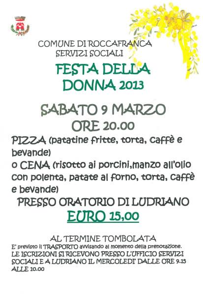 Festa della Donna a Roccafranca