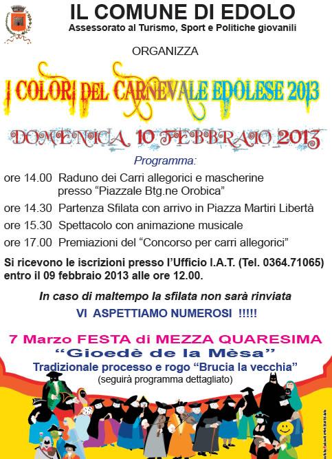 I Colori Del Carnevale Edolese