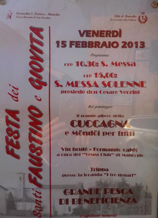 festa di san faustino e giovita a Manerbio